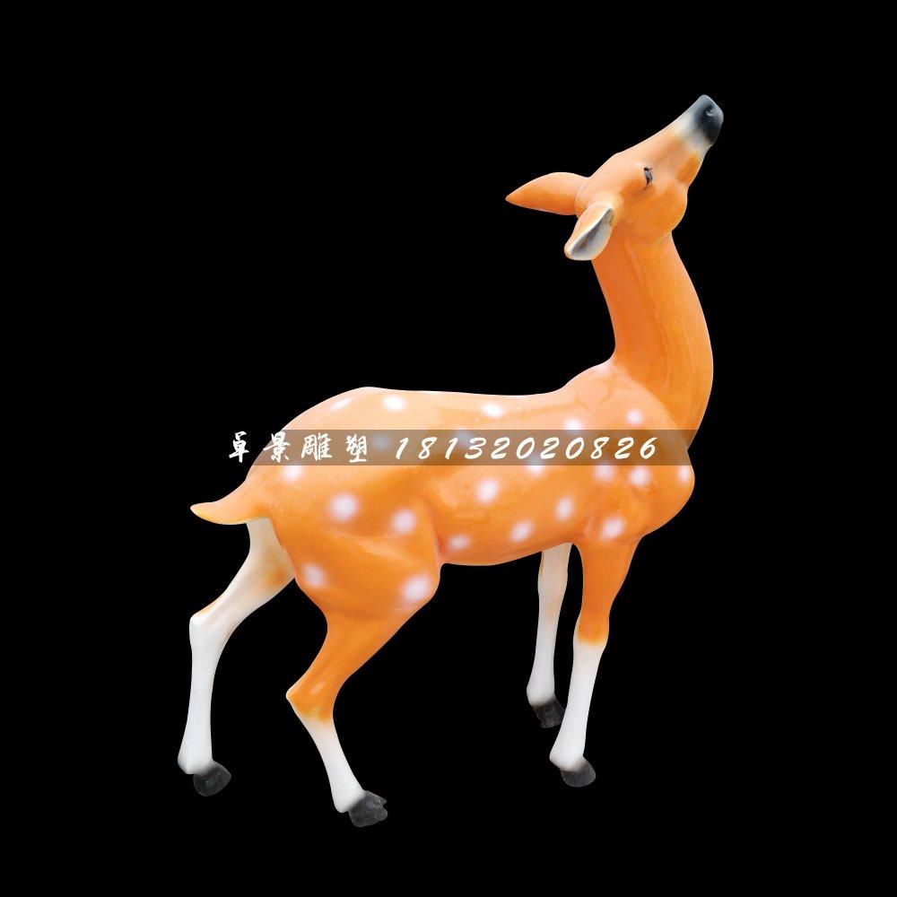梅花鹿雕塑,玻璃钢动物雕塑