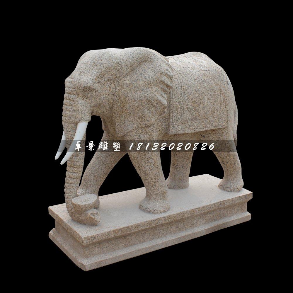 大理石大象雕塑,动物石雕
