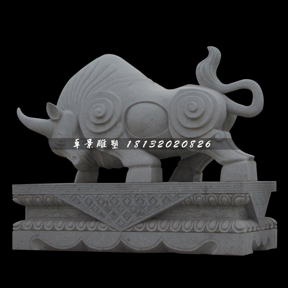 大理石牛雕塑,拓荒牛石雕