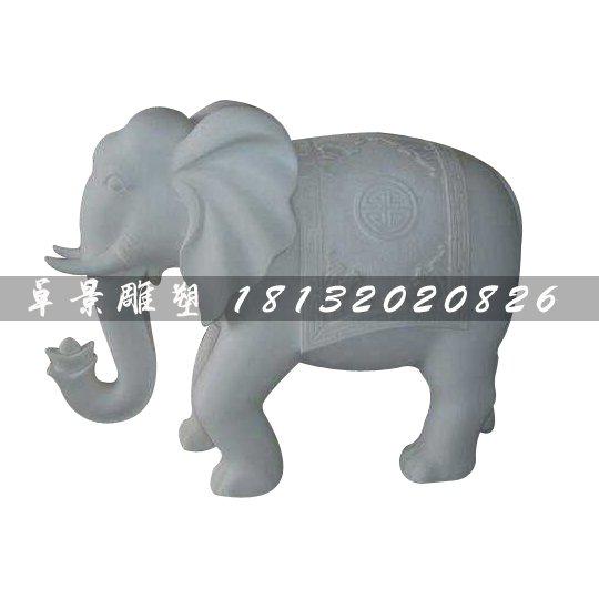 泰国大象雕塑,汉白玉石雕