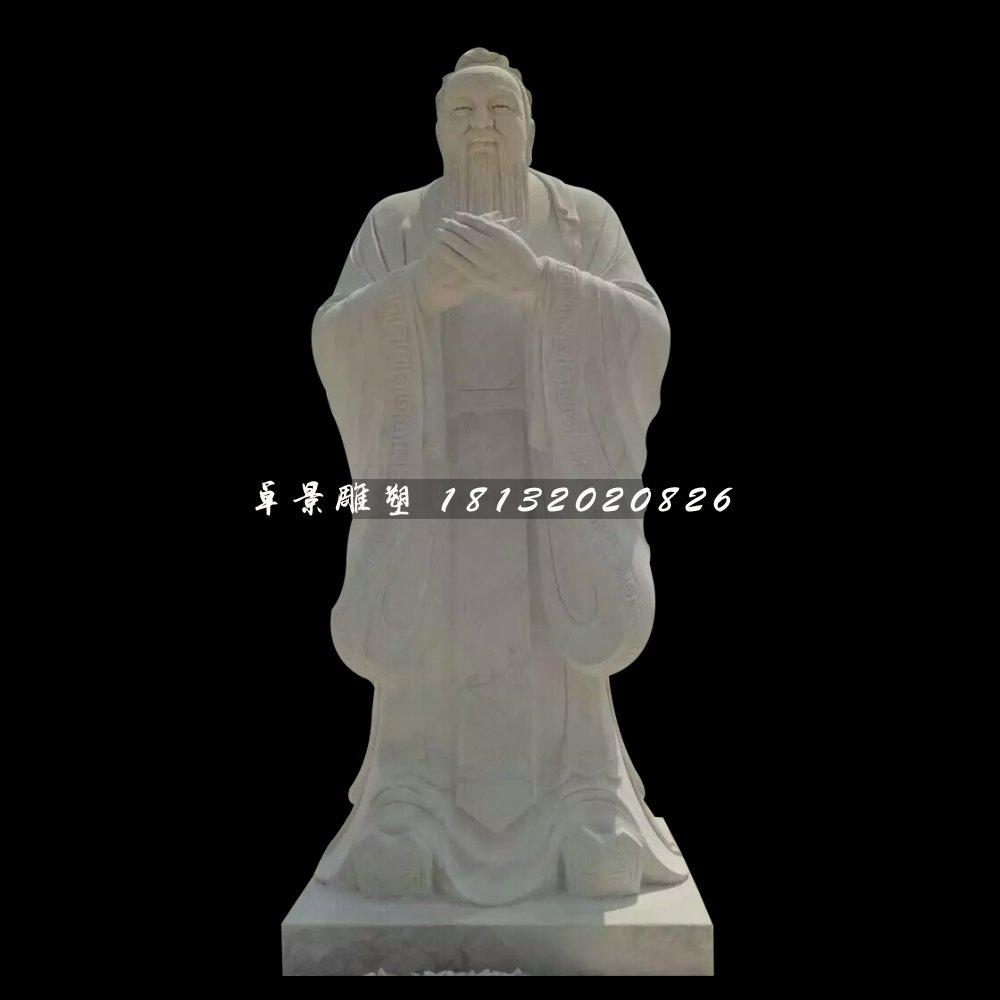 广场名人石雕,校园孔子雕塑
