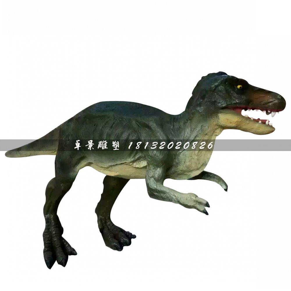 玻璃钢仿真恐龙雕塑,公园动物雕塑