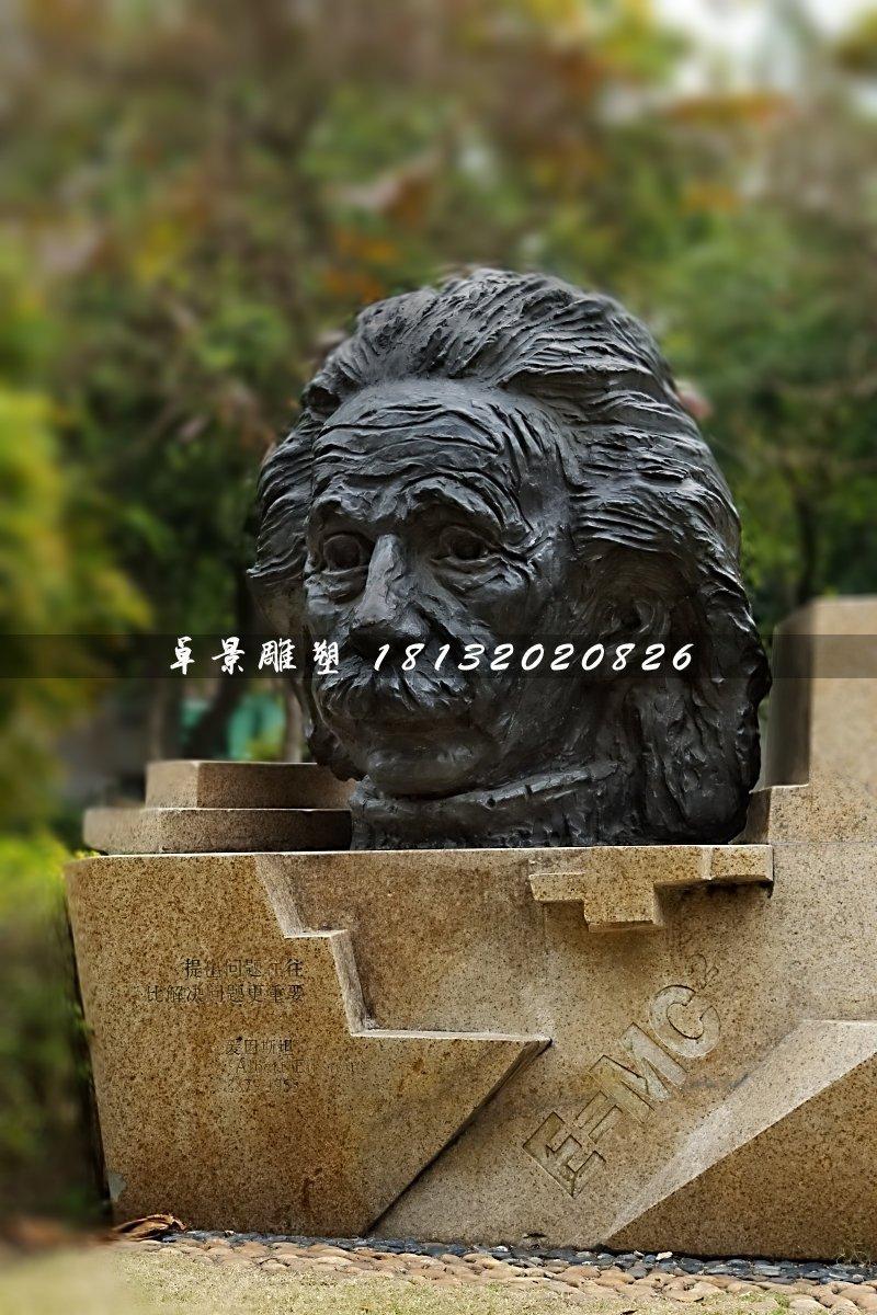 爱因斯坦头像铜雕,名人铜雕