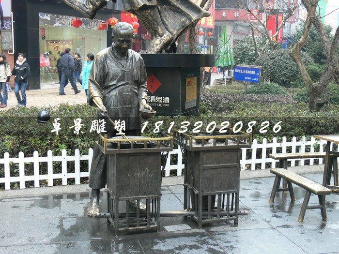 温酒铜雕,街头景观铜雕