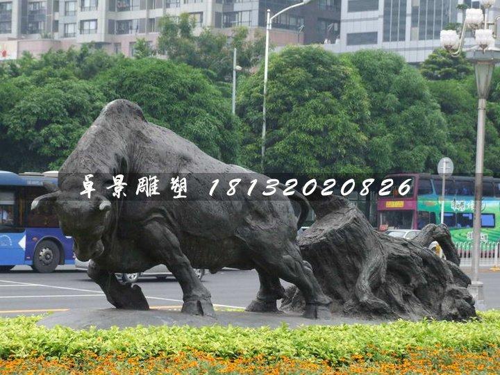 开荒牛铜雕,动物铜雕