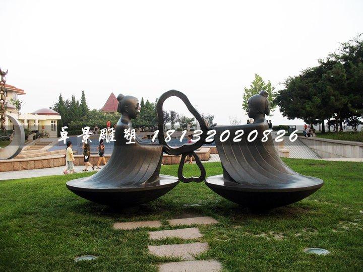 孔融让梨铜雕,景观铜雕
