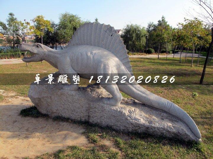 恐龙石雕,公园动物石雕