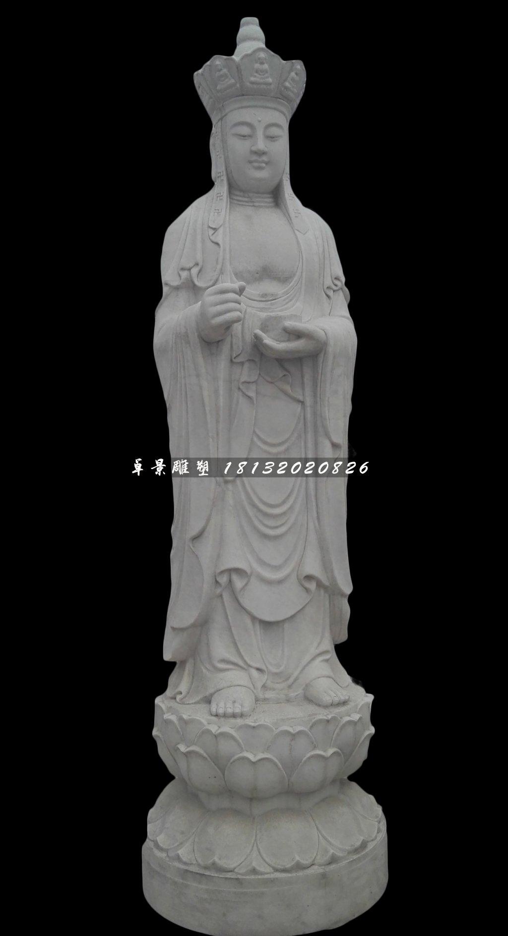 地藏菩薩石雕,立式佛像石雕