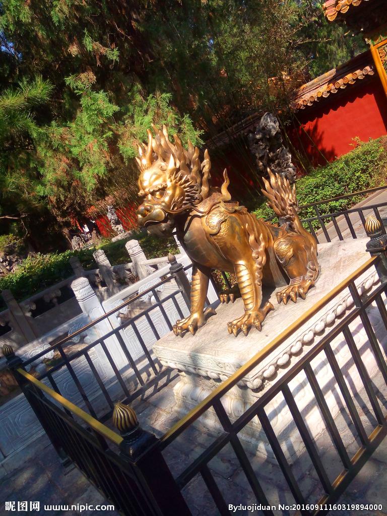 铜雕麒麟,铸铜麒麟雕塑