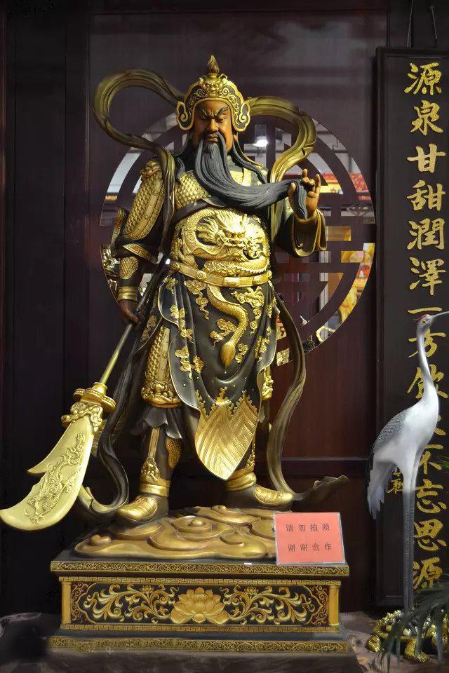 武财神雕塑,玻璃钢立式关公雕塑
