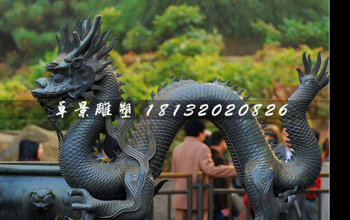 青铜龙雕塑,广场神兽铜雕