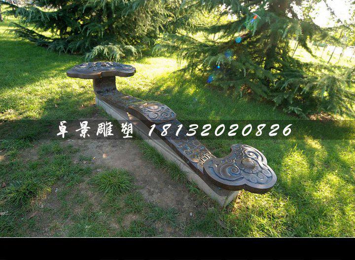 如意铜雕,公园景观铜雕