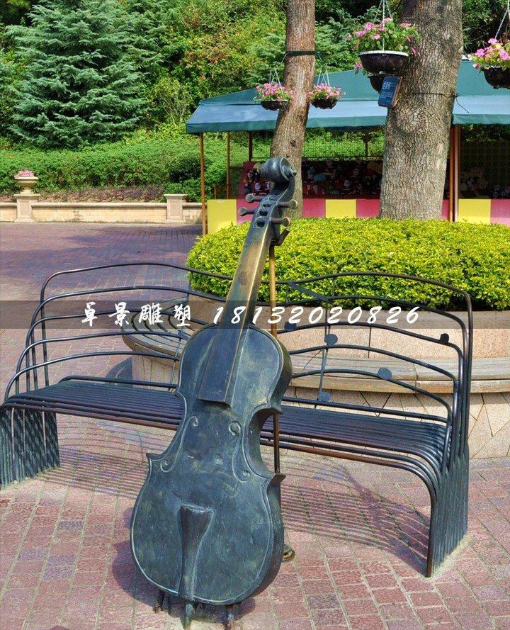 大提琴铜雕,公园景观铜雕