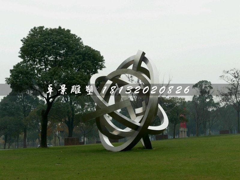 抽象不锈钢雕塑,景观雕塑