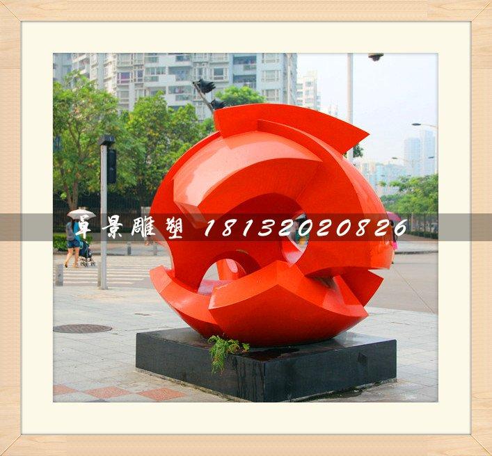 广场抽象雕塑,不锈钢烤漆雕塑