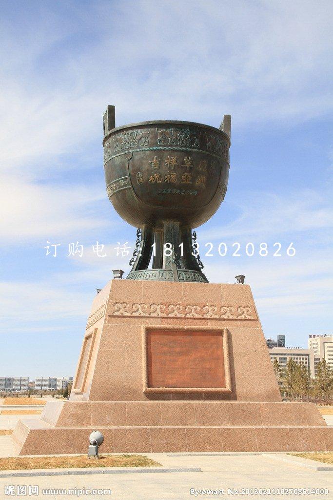 圆形铜鼎,广场青铜鼎雕塑