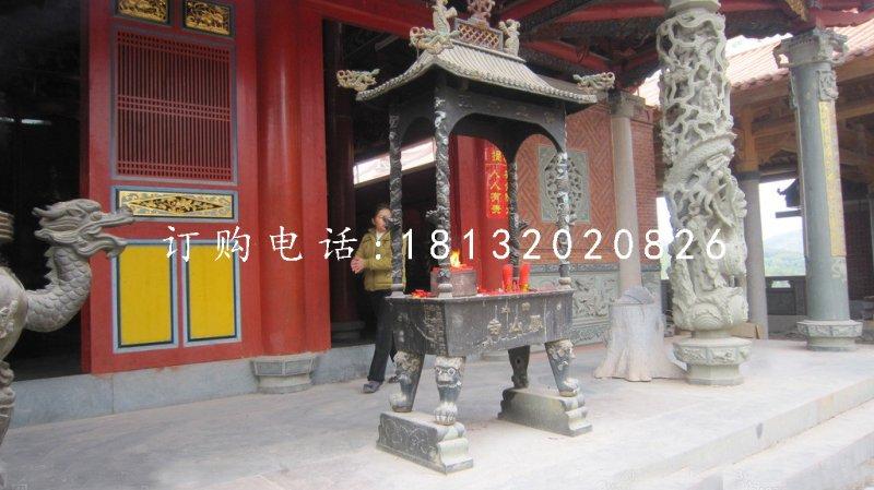 铜雕香炉,寺庙方形香炉铜雕