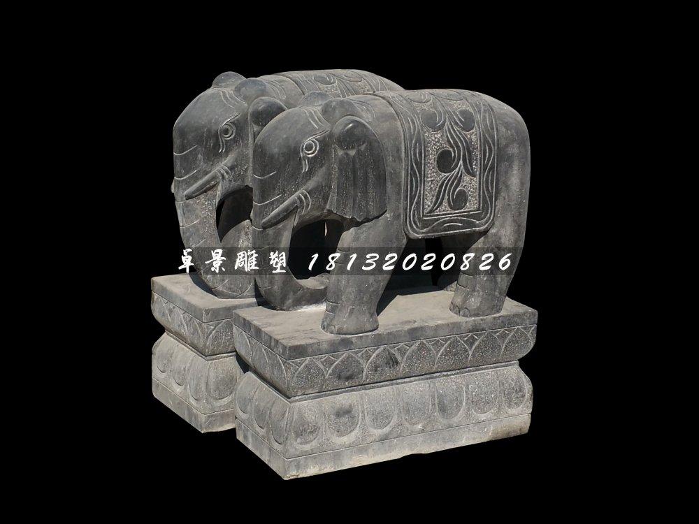 大象石雕,青石动物雕塑