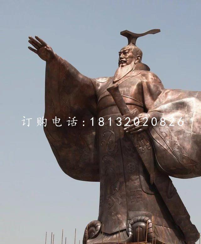 汉武帝铜雕古代人物雕塑