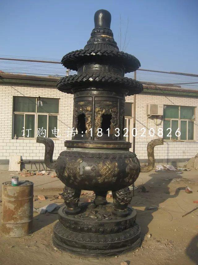 铜雕香炉铸铜香炉雕塑