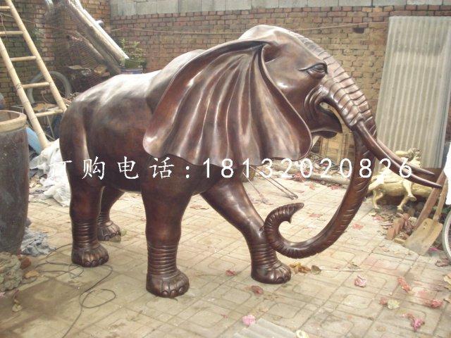 公园大象铜雕铸铜动物雕塑