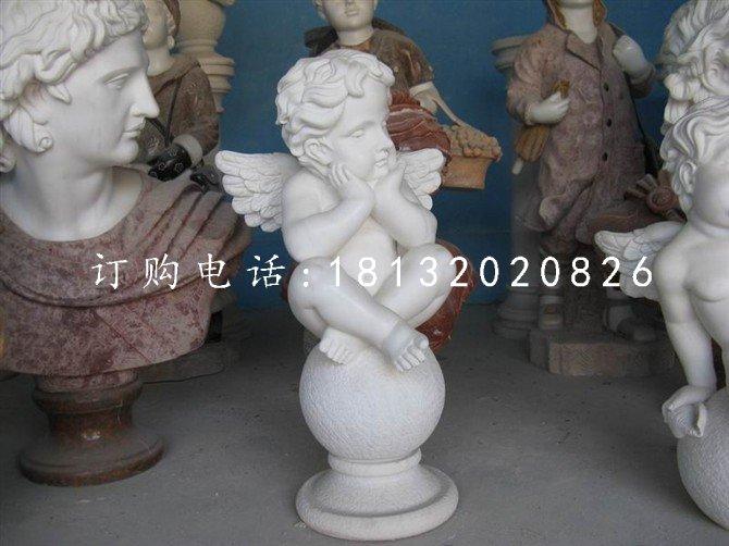 小天使石雕汉白玉人物雕塑