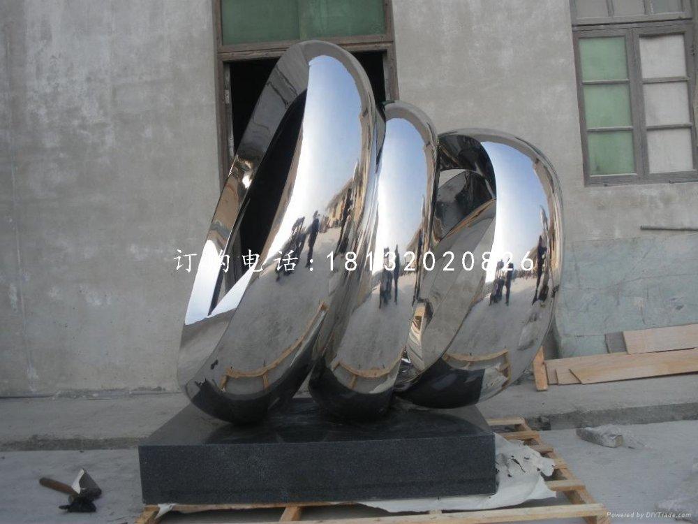 不锈钢团结雕塑抽象企业雕塑