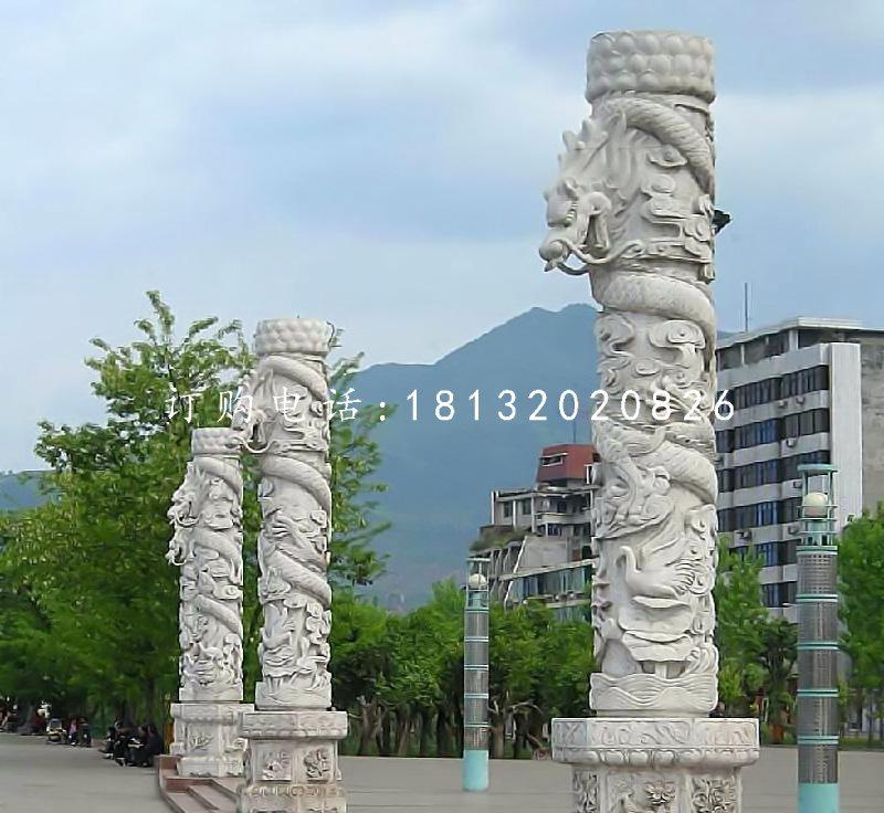 龙柱石雕广场石龙柱雕塑