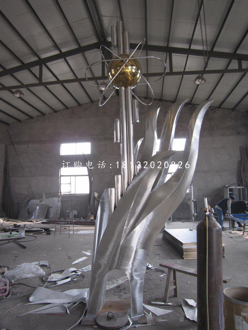 托起明天不锈钢雕塑校园抽象景观雕塑
