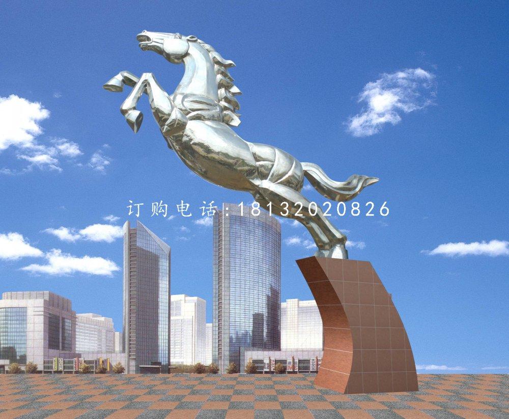 不锈钢奔马雕塑企业动物雕塑