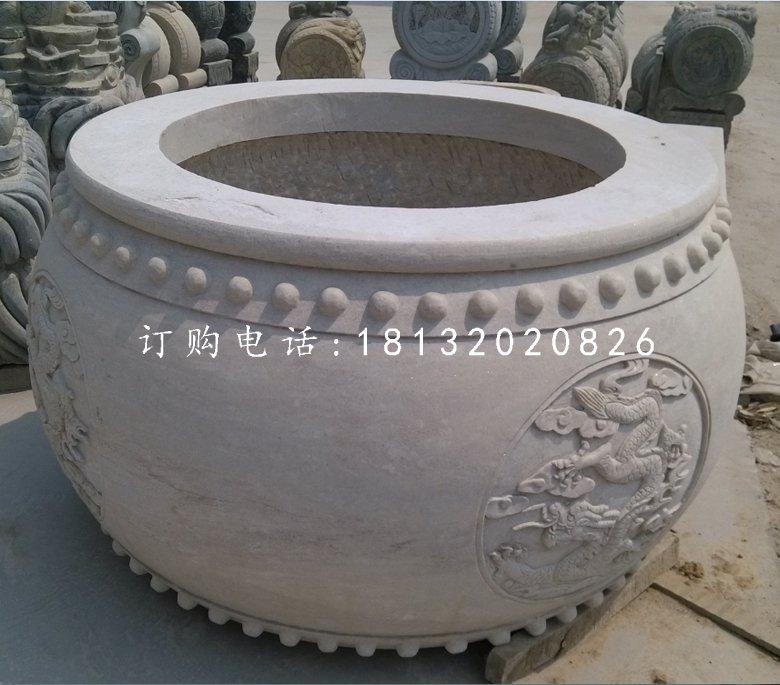 圆形水缸,大理石水缸