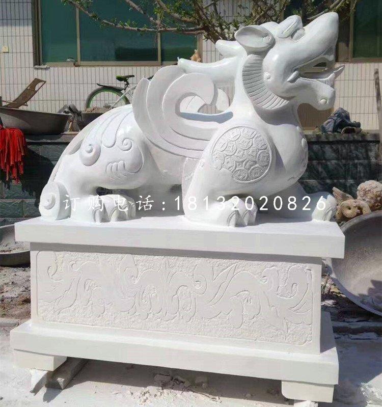神兽石雕,汉白玉貔貅