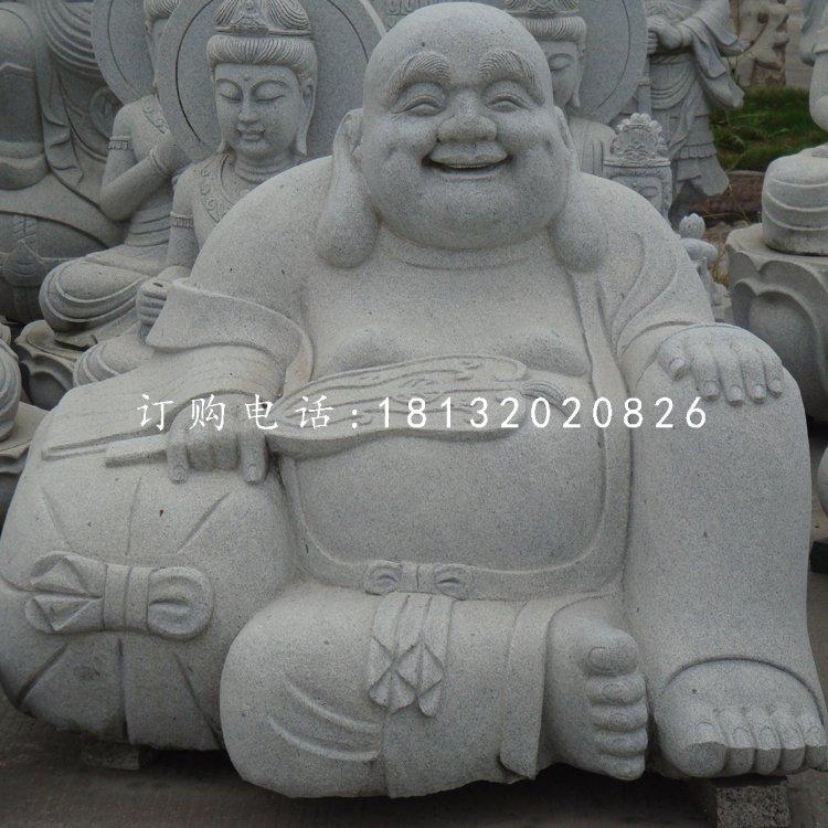 大理石布袋和尚,石雕弥勒佛