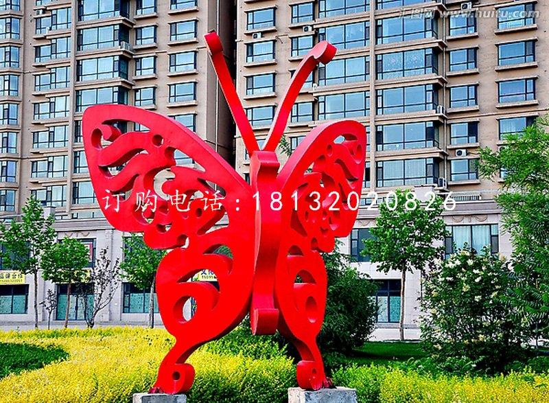 不锈钢蝴蝶,小区景观雕塑