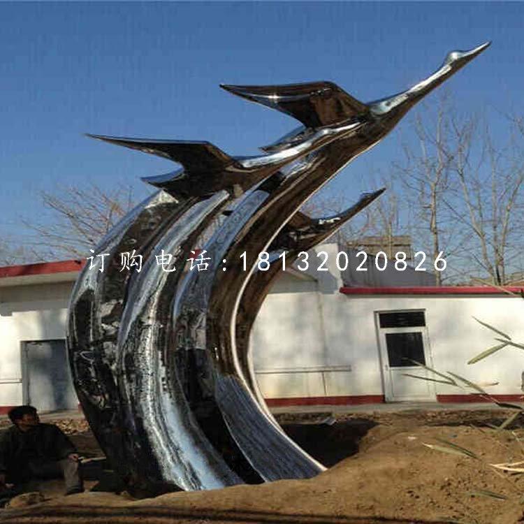 不锈钢飞翔的天鹅雕塑