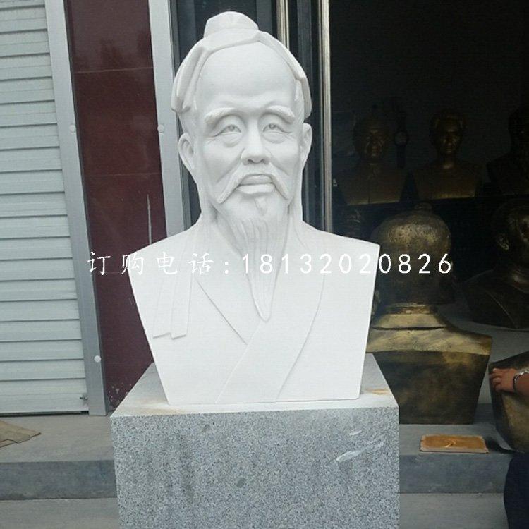 汉白玉华佗胸像,医院人物石雕