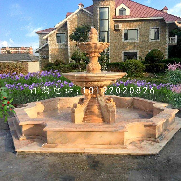 欧式喷泉石雕,别墅石喷