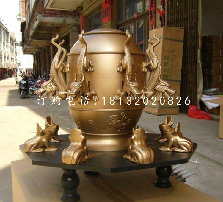 地动仪铜雕,铸铜雕塑