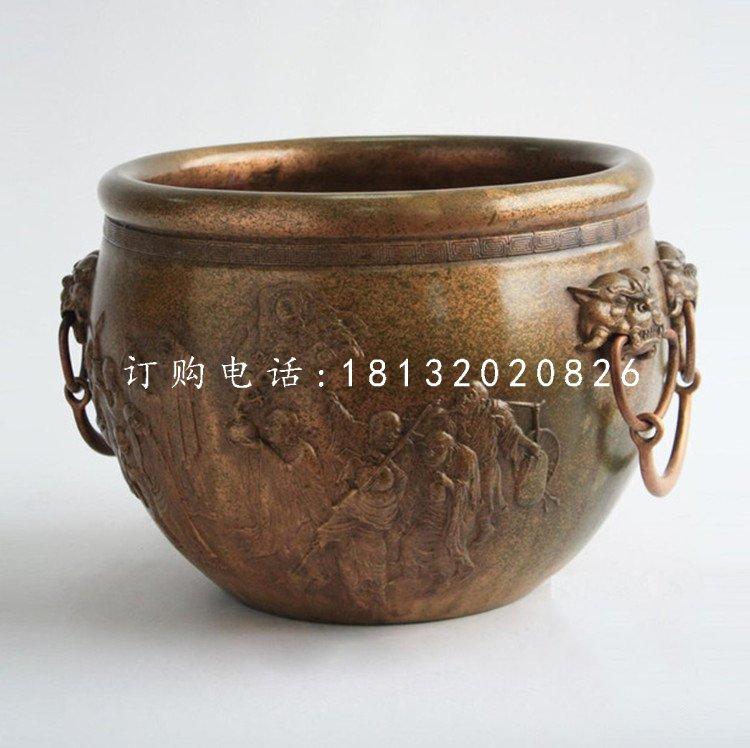 水缸雕塑,仿古铜水缸