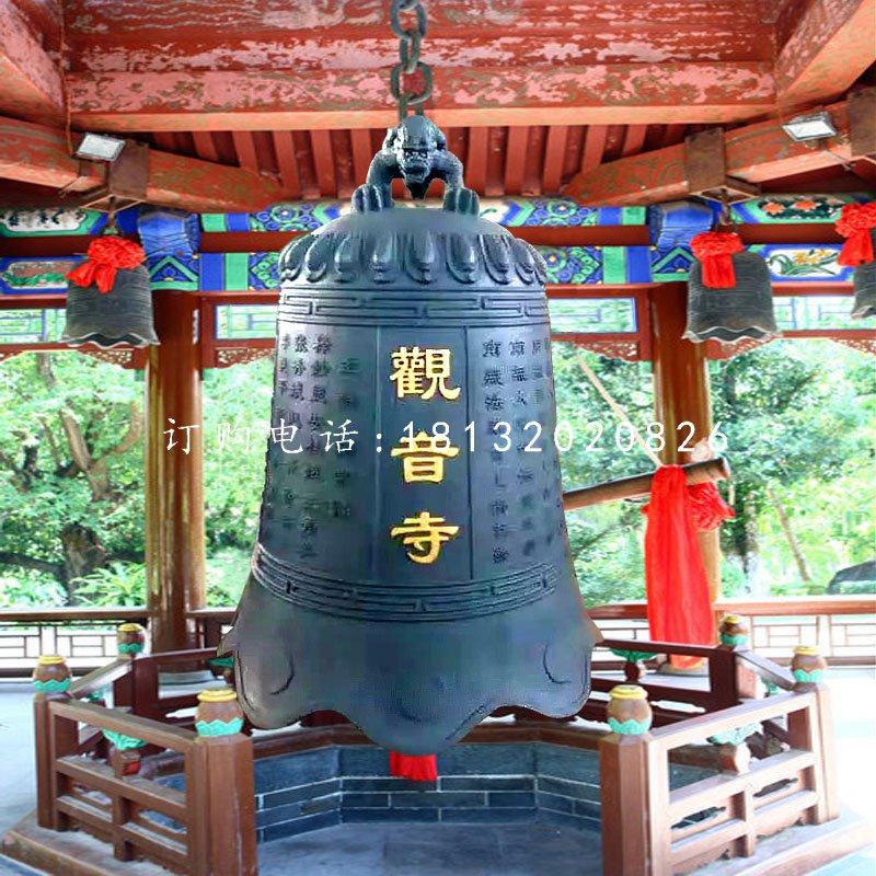 寺庙铜钟,青铜钟雕塑