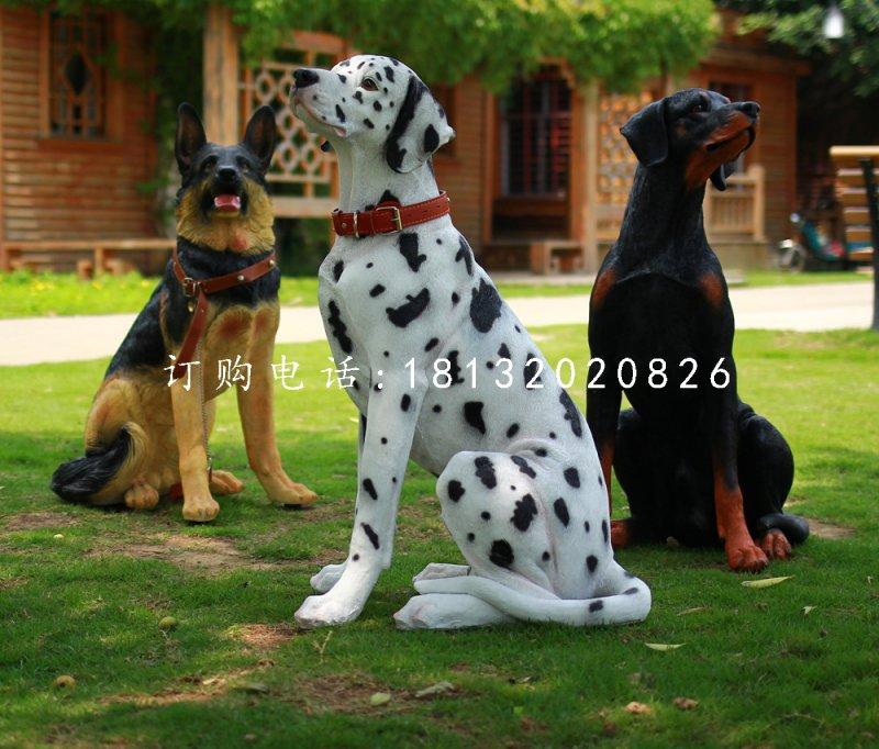 斑点狗雕塑,玻璃钢动物雕塑
