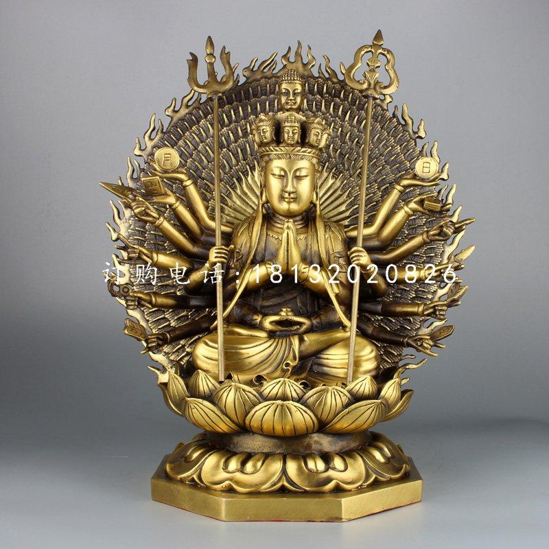 千手观音铜雕,铸铜佛像雕塑