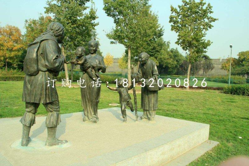古代人物铜雕,公园景观铜雕