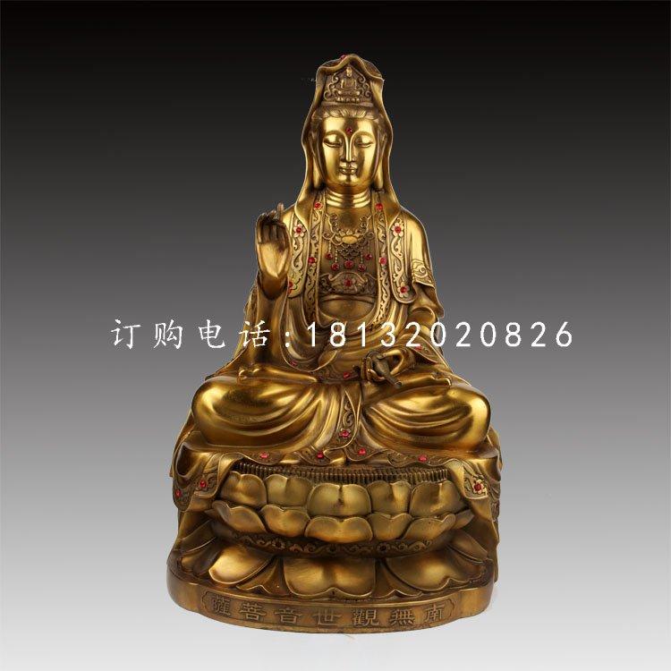 观世音菩萨铜雕,铸铜佛像