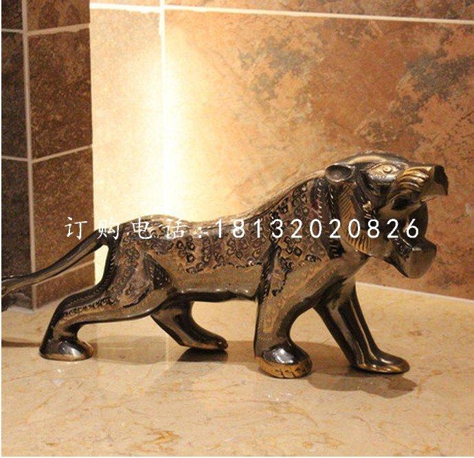 老虎铜雕,铸铜动物雕塑