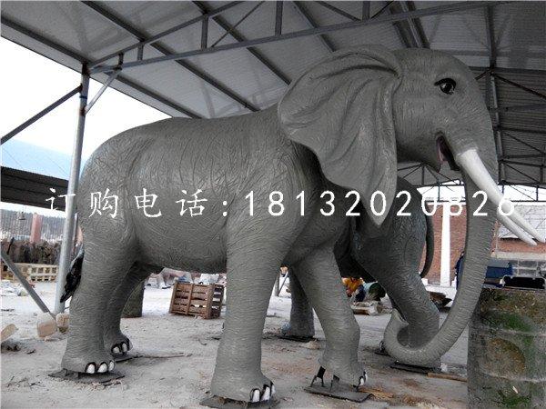 玻璃钢仿真大象公园动物雕塑