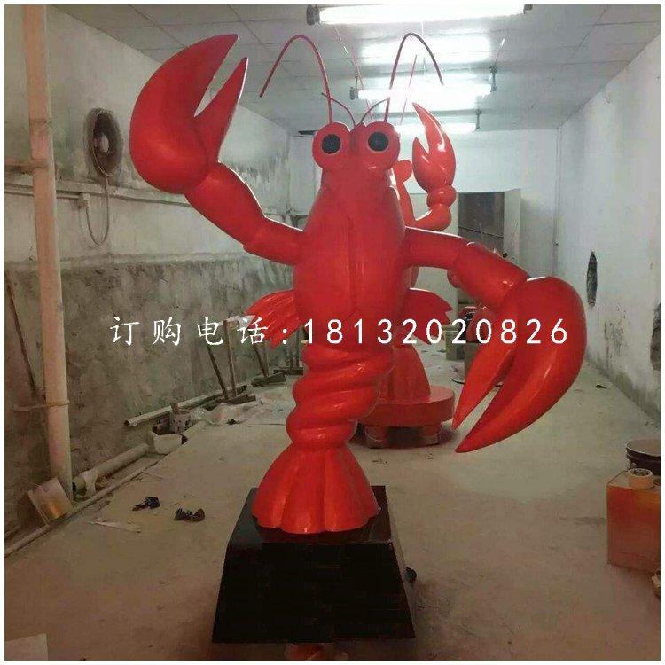 大龙虾雕塑,玻璃钢饭店雕塑