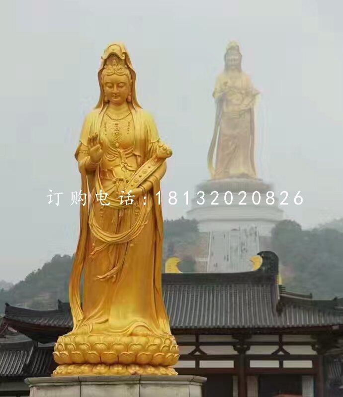铜雕观音菩萨寺庙佛像雕塑