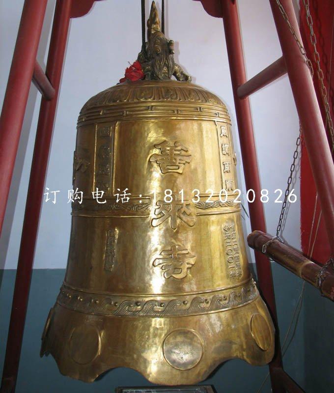 铸铜钟,寺庙铜钟雕塑