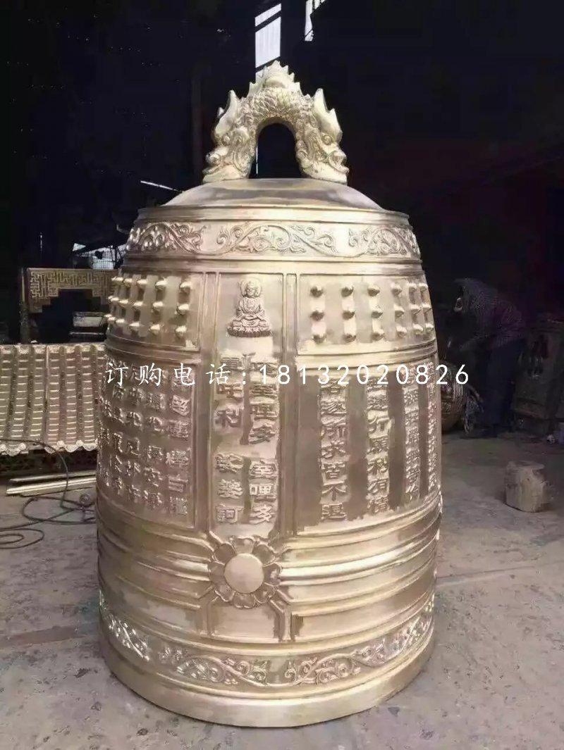 铸铜钟雕塑,寺庙铜雕钟